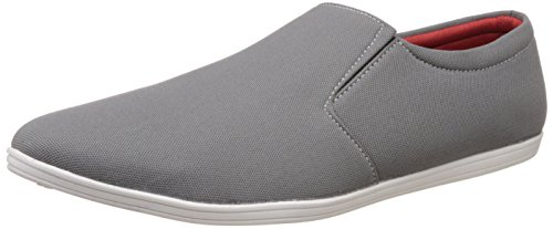 ZAPATOZ Grey Canvas Slip On Loafers