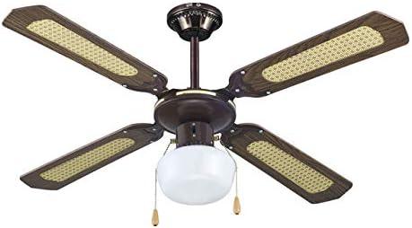 AVANT - Ventilador de Techo 107 Cm, 60W, 3 Velocidades, 1 Lámpara, 2 Cadenas para Control de Velocidad y luz.