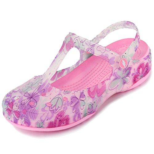 Respeedime Hole Shoes Summer Women's Beach Sandals Girls Soft Slippers Purple/Pink 6M