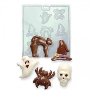PME CM409 Chocolate/Candy Mold-Halloween, Standard Transparent