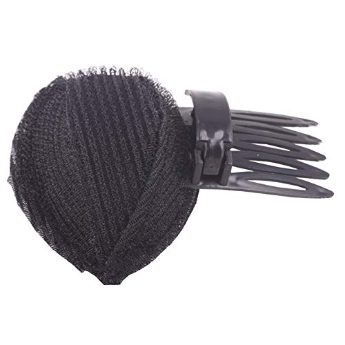(1 PCS Black Hair Insert Tool Hair Clip Mat with Comb Volume Hair Bump Cushion Princess Style Updo Maker Front Hair Heightening Device Puffy Ponytail Holder Ornament Charming Hairstyle)