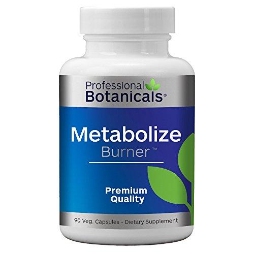 Professional Botanicals Metabolize Burner - Vegan Formulated Metabolism & Weight Management Support - 90 Vegetarian Capsules