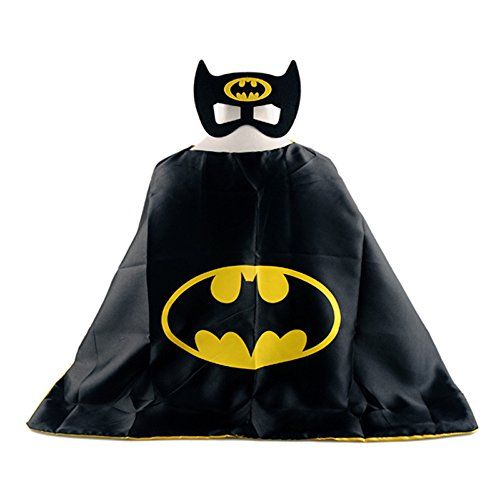 [Superhero Halloween Party Cape and Mask Set for Kids Batman] (Devil Baby Halloween Costume)
