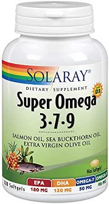 Solaray Super Omega 3 7 9 | Supports Healthy Skin, Cardiovascular Function, More | EPA, DHA, Essential Fatty Acids from Fish Oil | Mini Softgel, 120ct