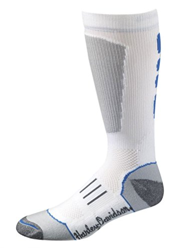 Harley-Davidson Wolverine Women's Performance Riding Over-The-Calf Socks, White