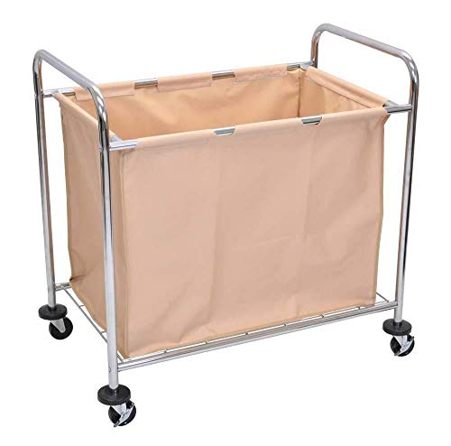 - Luxor HL14 Laundry Cart With Steel Frame and Canvas