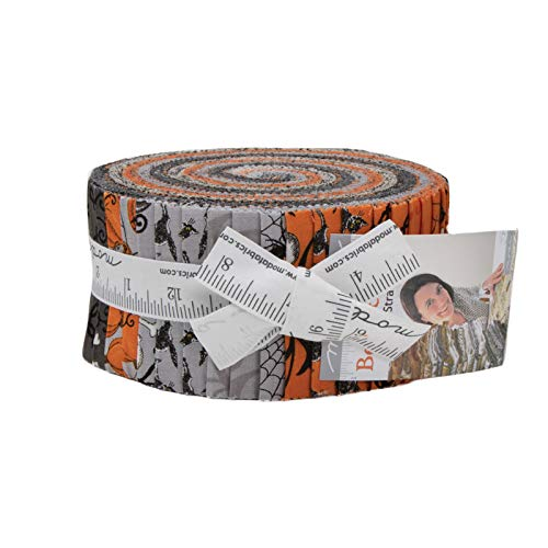 Moda Deb Strain Bewitching Halloween Jelly Roll 40 2.5-inch Strips -