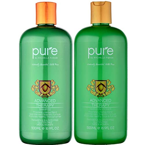 Sulfate Free Hair Growth Shampoo & Conditioner for Color Treated Hair - Paraben & Sulfate Free Shampoo & Conditioner Set for Hair Loss & Thinning Hair