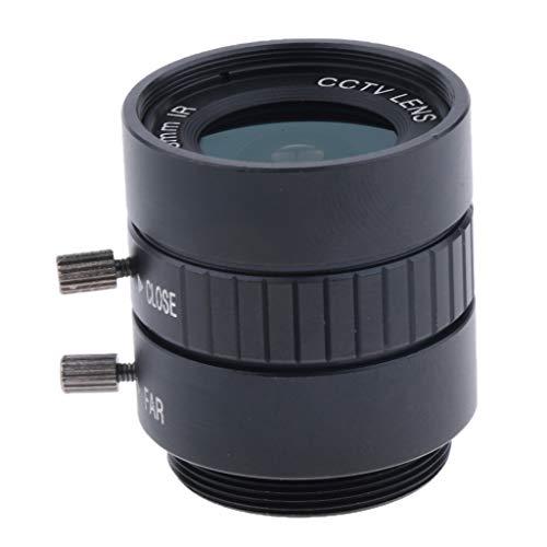 Prettyia CCTV Industrial Camera HD 3MP 6mm f/1.2 Aperture Focal Manual IRIS Fixed Focus CS C Mount Lens Format 1/2'' - Fixed Mount Cs Focal Lens