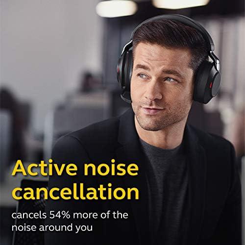 Jabra Evolve2 85 UC Wireless Headphones with Link380c & Charging Stand