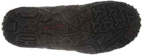 Columbia Redmond Waterproof, Scarpe da Arrampicata Uomo Grigio (Charcoal/Garnet Red 030)