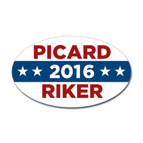 CafePress Star Trek Picard Riker 2020 Sticker Oval 951700557