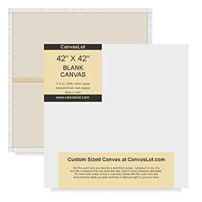 CanvasLot Custom Sized Stretched Canvas & Heavy Duty Blank Canvases For Professional Artist 42 Inch Width