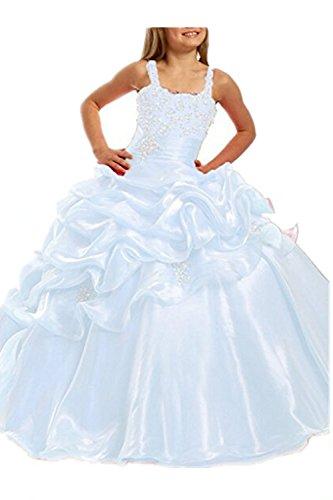 Girl's Pageant Ball Gown Wedding Flower Girls Dress Floor Length White,Customized (White Dress For Teenager)