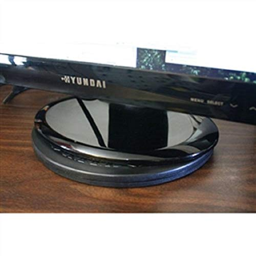 MyEasyShopping 15-inch Heavy Duty Swivel Turntable for Flat Screen TV or Monitor Flat Gloss Screen High Unit