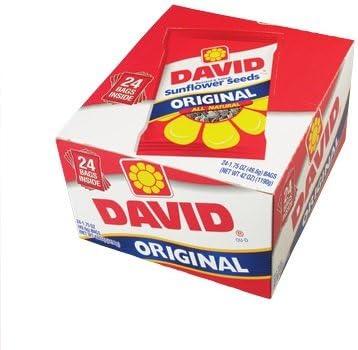 【ハワイ直送品】 DAVID ひまわりの種 塩味 24小袋入り DAVID Original Sunflower Seeds Salted 24/1.75oz