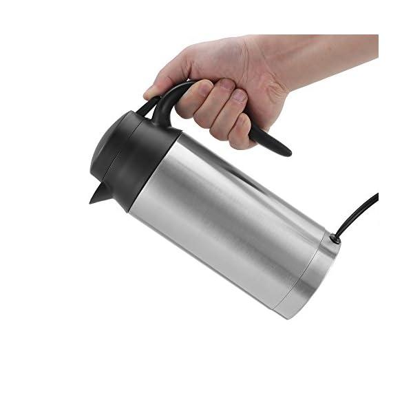 41ZlRC%2BAR9L Hangrow Auto Wasserkocher 12V, Reisekessel Edelstahl 750 ml, Zigarettenanzünder, Auto Heizung Schnell kochen, für…