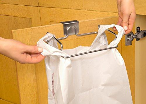 youcopia over the door plastic bag trash bin for cabinets import it all. Black Bedroom Furniture Sets. Home Design Ideas