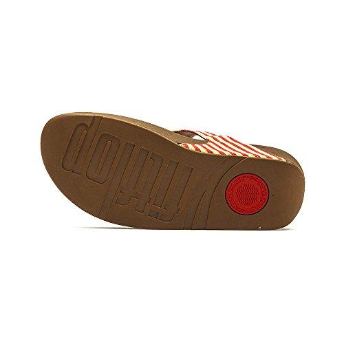 Fitflop Dames De Skinny Stof-flip-flop Rood