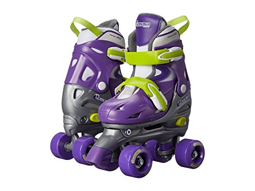 Chicago Kids Adjustable Quad Roller Skates - Purple - Small (Roller Skates Girls Size 7)