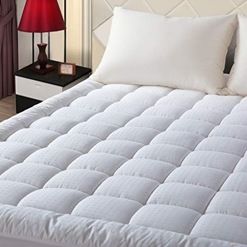 "EASELAND King Size Mattress Pad Pillow Top Mattress Cover Quilted Fitted Mattress Protector Cotton Top 8-21"" Deep Pocket Hypoallergenic Cooling Mattress Topper"