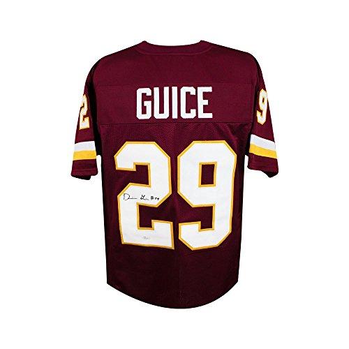 (Derrius Guice Autographed Washington Redskins Custom Football Jersey - JSA COA)
