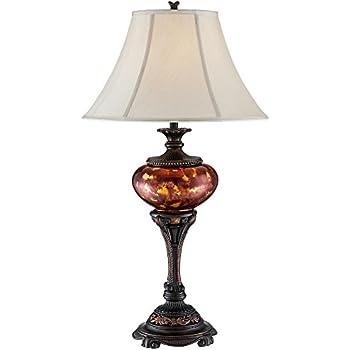 Liam Tortoise Glass Font Urn Table Lamp Amazon Com