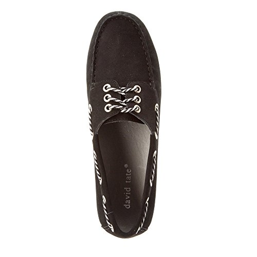 David Tate Talia Dames Oxford Zwart Nubuck