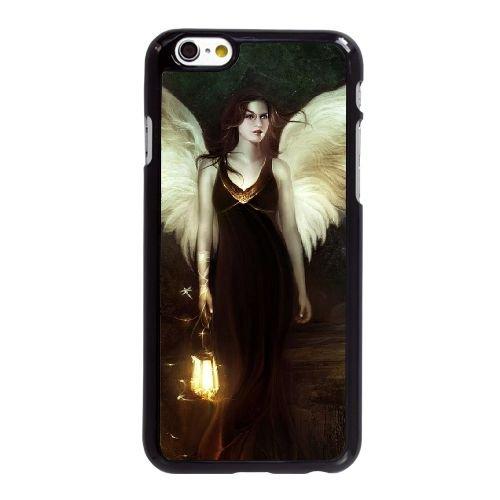 I1O82 ange de la nuit L6U5WC coque iPhone 6 4.7 pouces cas de couverture de téléphone portable de coque DE6COL6RS noirs