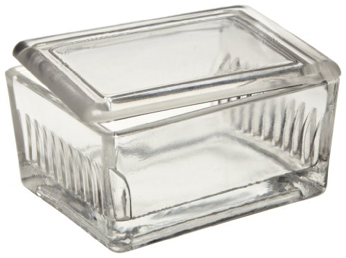 Wheaton 900170 Soda Lime Glass Staining Dish, with Glass Lid (Case Of 6)