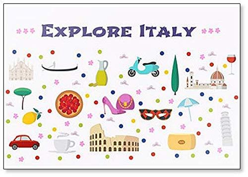 Imán clásico para nevera con diseño de la película Explorar Italia ...