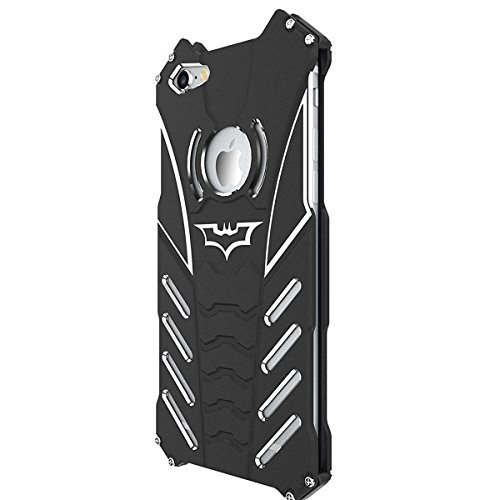 Shockproof Anti-drop Aerospace Aluminum Metal Batman Phone Protect Shell Military Grade Drop Tested Iron Man Bumper Back Cover for Apple iPhone6/6s Plus 5.5 Inch at Gotham City Store