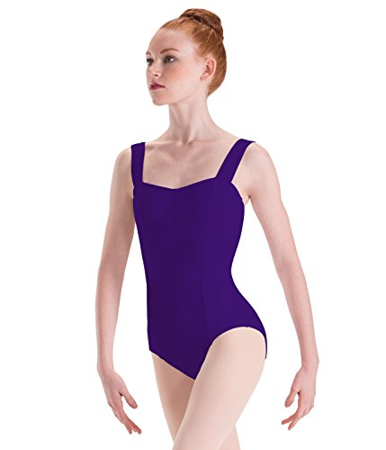 Motionwear Wide Strap Princess-Seam Camisole Leotard, Ultraviolet, Small Adult