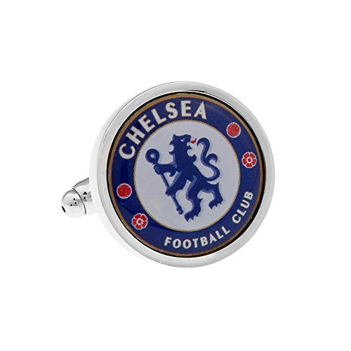 Chelsea Cufflinks Chelsea Soccer Club Logo Cuff-links with Velvet Gift Box