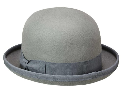 Bombetta Wool Uomo Bowler Guerra Grigio Cappello A nwaqUxvH4