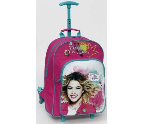 Trolley mochila Escuela Primaria – Violetta Disney para siempre (Dim. 42x32x17 cm)