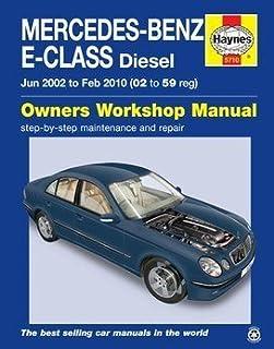 mercedes benz e class diesel workshop manual 1999 2006 owners rh amazon co uk 2006 mercedes-benz m-class ml350 owners manual 2005 Mercedes -Benz E-Class
