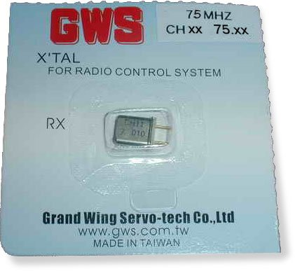 GWS Receiver Crystal channel 66 UM-1 75.510 Mhz