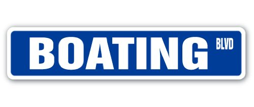 BOATING Street Sign speed motorboat sailboat row boat | Indoor/Outdoor |  36