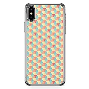 Loud Universe Case For iPhone XS Pretty Multicolor Geometrical Pattern Unisex Transparent Edge iPhone XS Case