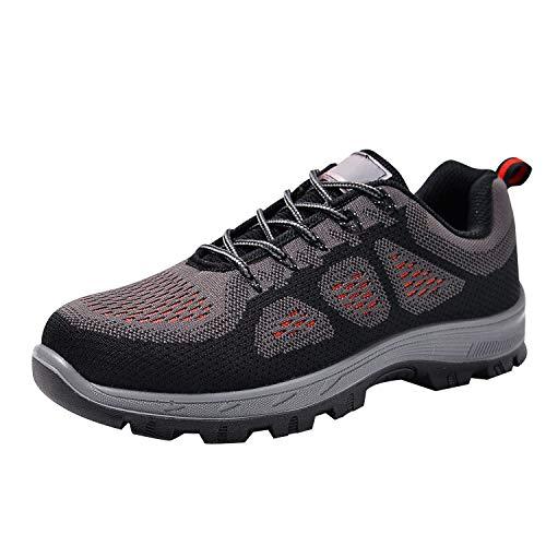 Toe Shoes Steel Men's Work Optimal Shoes Shoes Black Safety HqwTPAR6