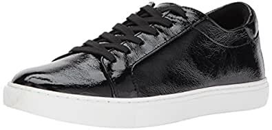 Kenneth Cole New York Women's Kam Techni-Cole Lace Up Sneaker Patent Fashion, Black, 5 M US
