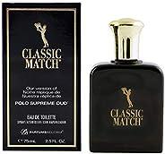 PB ParfumsBelcam Mens Fragrance Classic Match Polo Oud Cologne, 2.54 fl Ounce