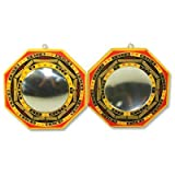 Set of 2 Chinese Feng Shui Bagua Mirror Convex