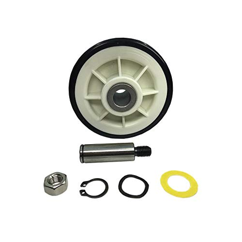 MAYITOP Drum Roller w/shaft Dryer Wheel Support Kit 303373K for Whirlpool,Maytag 12001541 312948