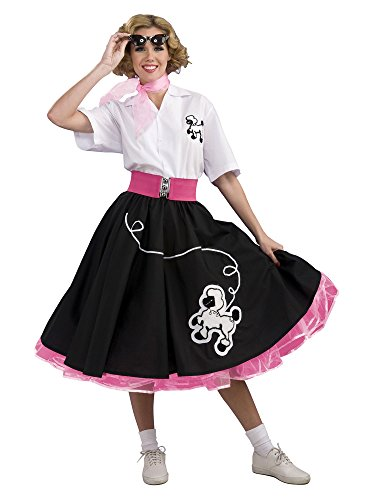 1950s Party Costume Ideas (Women's 1950s Black Poodle Skirt Costume MEDIUM)