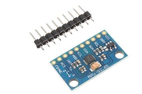 Price comparison product image NOYITO MPU9250 6500 9-Axis 9 DOF 16 Bit Gyroscope Acceleration Magnetic Sensor 9-Axis Attitude +Gyro+Accelerator+Magnetometer Sensor Module IIC/SPI for Arduino