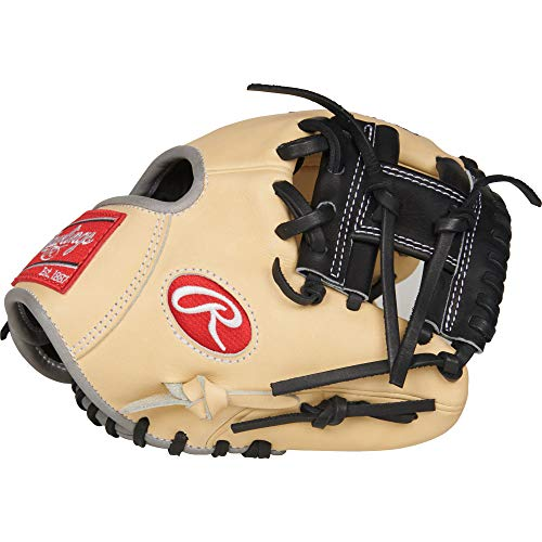 Rawlings PRO200TR-2C Heart of The Hide, Camel W/Black Trim, 9.5