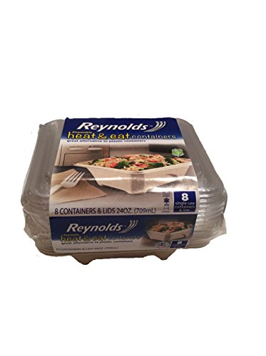 - Disposable Heat & Eat Containers, a great alternative to plastic, 8 Single Use Containers & Lids