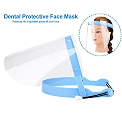 Gemini_mall Protective Visor Face Shield Clear Visor Face Shield Anti Splash Full Face Cover Mask for Workshop Cooking Cleaning 1 Visors + 1 Frame